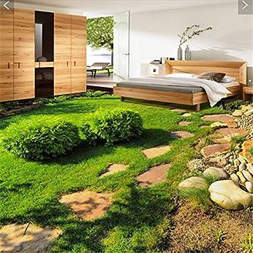 Lqwx 3D Wallpaper Suelo Impermeable Pegatinas Personalizadas Estéreo 3D Pegatinas Jardín Suelos De Baldosas Mural De Papel Tapiz-200cmX140cm: Amazon.es: Bricolaje y herramientas