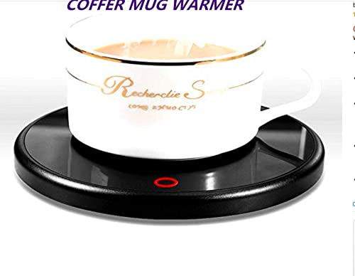 Coffee Mug Warmer,Smart Coffee Warmer,Electric Electric Beverage Warmer With 55 Temperature 40-60Tempture Settings at most, Best Gift Idea, Office Home Use Electric Cup Beverage Plate, Water,Milk15watt Power warterproof Design Black