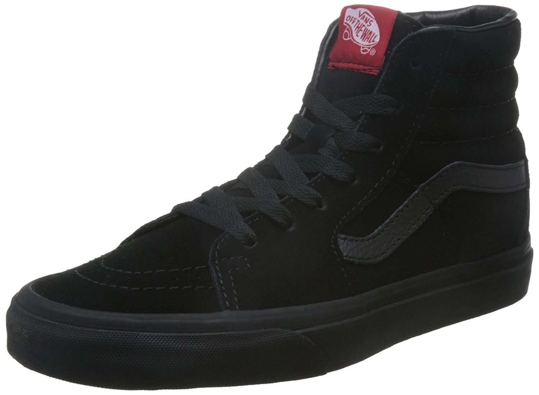 Vans Sk8-hi Unisex Adults' Hi-Top Sneakers, Black/Black, 8.5 M US Women/ 7 M US Men
