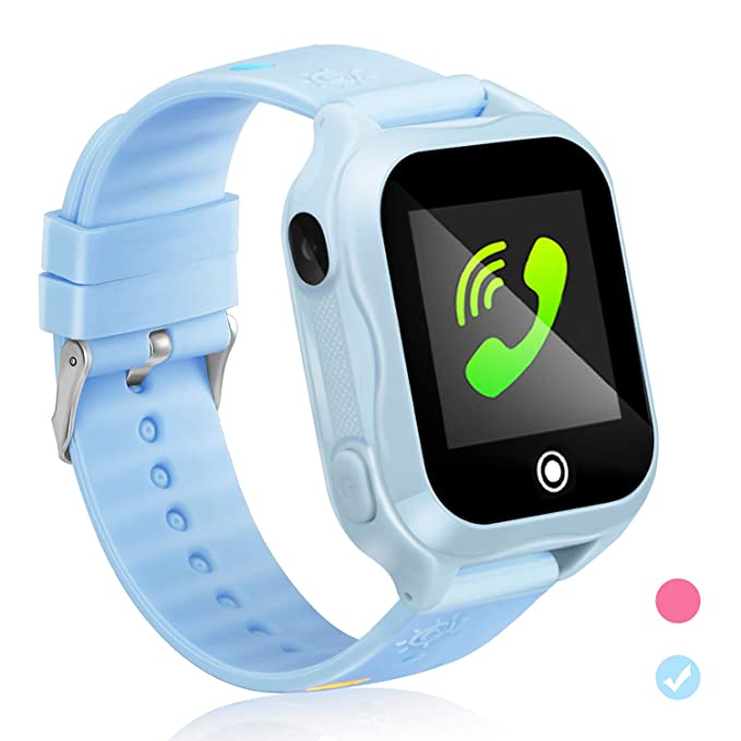 Kids GPS Phone Watch Waterproof App Remote Control,Unlocked Kids Watch Phone Voice Chat Touch