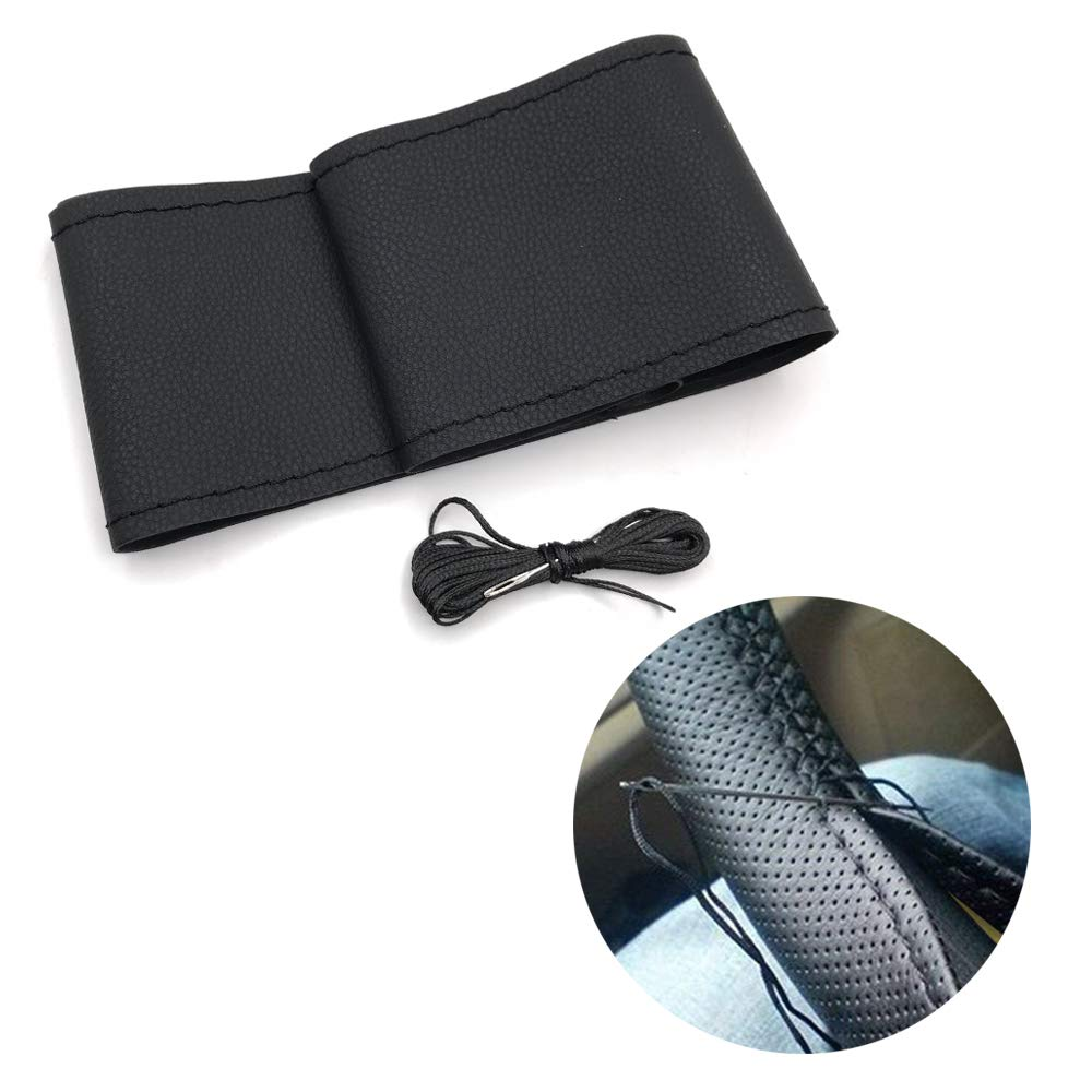 Car Steering Wheel Protector Cover 38cm Universal Leather Anti-Slip Cover