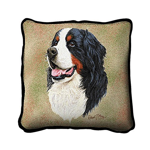 Bernese Mountain Dog Pillow - 17 x 17 Pillow by Pure Country Weavers