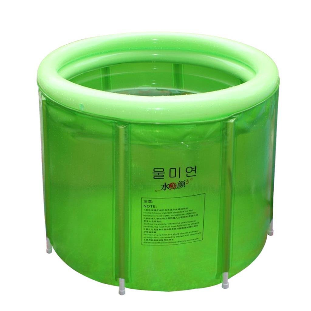 MEHE-plegado Bath Barrel plástico Tub adulto HM-Bañera de ...