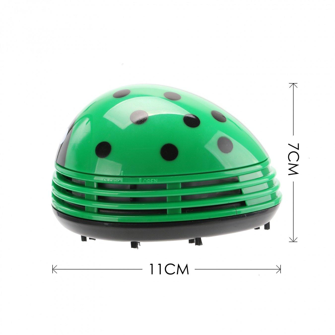 VOYEE Cute Portable Beetle Ladybug Cartoon Mini Desktop Vacuum Desk Dust Cleaner Green by VOYEE (Image #5)