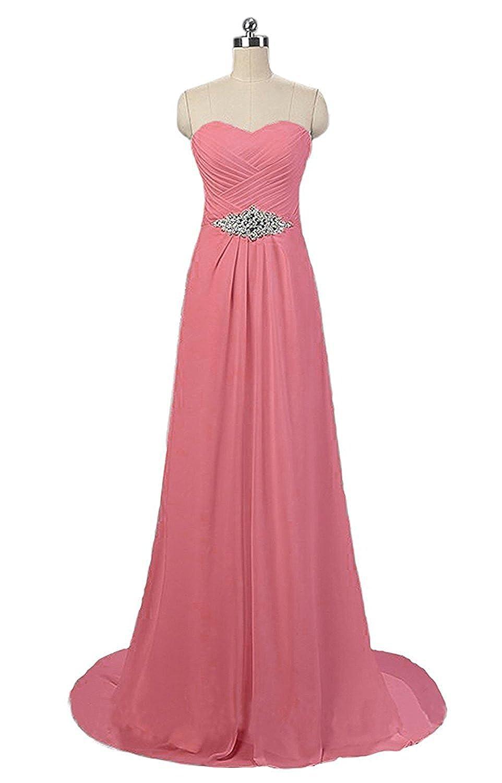Beach Womens A-line gasa vestidos de novia nupcial Coral 12: Amazon ...