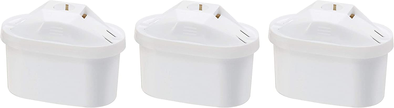 AmazonBasics Cartuchos Filtrantes de Agua, Blanco, 3 unidades