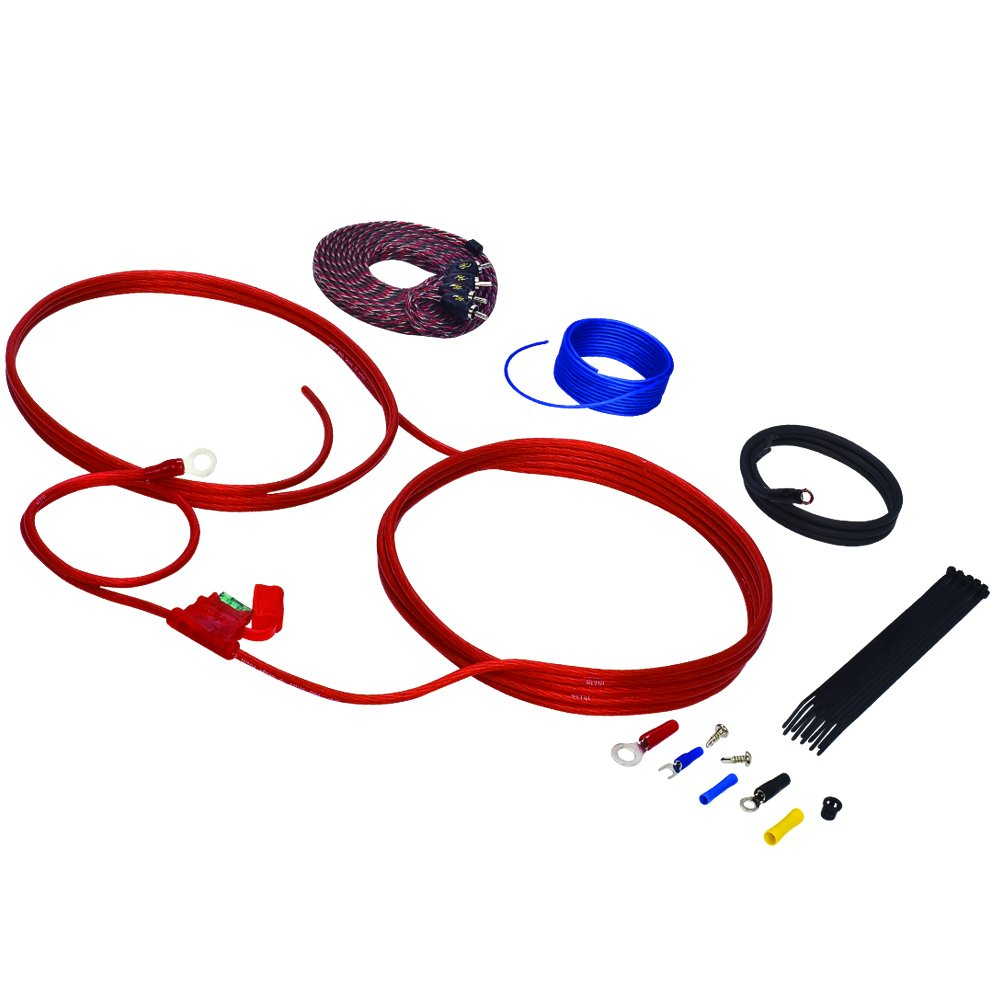 Stinger Sk46101 10 Gauge 4000 Series Power And Signal 1500w 8ga Car Audio Subwoofer Amplifier Amp Wiring Fuse Holder Wire Installation Kit Electronics