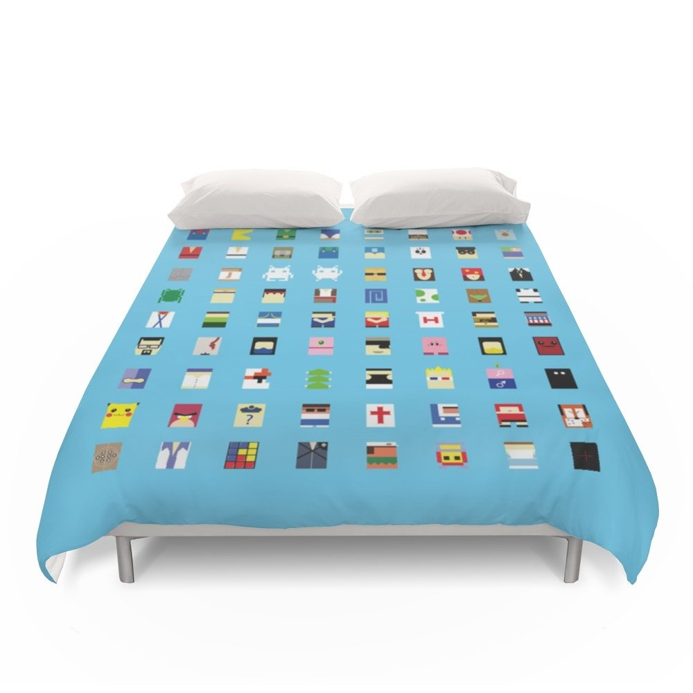 Society6 Minimalism Beloved Videogame Characters Duvet Covers Full: 79'' x 79''