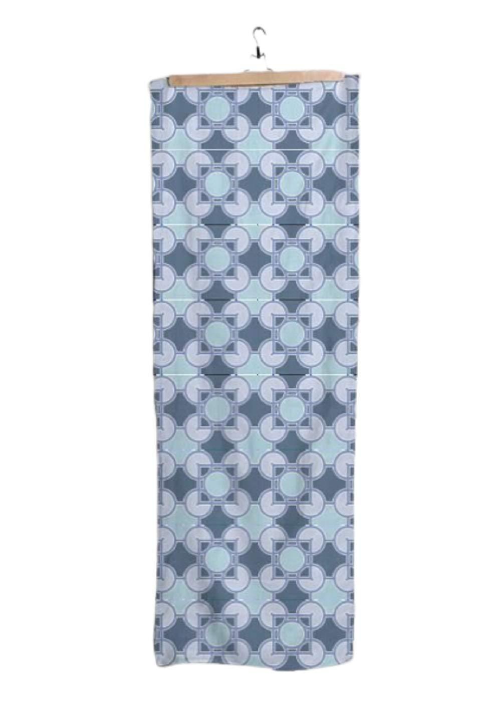 VIDA Luxfer Indigo Modal Scarf 28'' × 78'' | Original Artwork by Frank Lloyd Wright