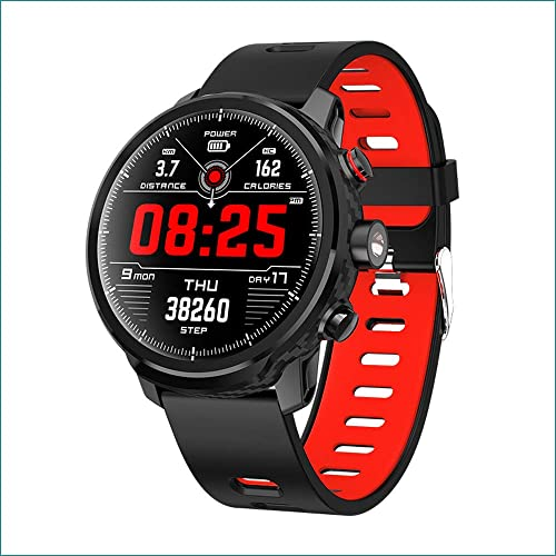 Smart Watch Activity Tracker Fitness Watch for Men Women Waterproof Heart Rate Monitor Watches Sleep Monitoring Red