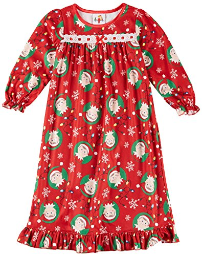 Elf on the Shelf Toddler Red Flannel Nightgown (4T) (Toddler Flannel Nightgown)