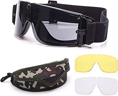 G/&G Airsoft Safety Glasses Yellow Lense Protection Close Fit