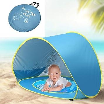 Carpa de playa para bebé Carpa emergente, con minipiscina ...
