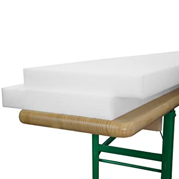 Beautissu - Juego de planchas de Goma-Espuma para Banco (2 Unidades, 25 x 220 x 4 cm): Amazon.es: Hogar