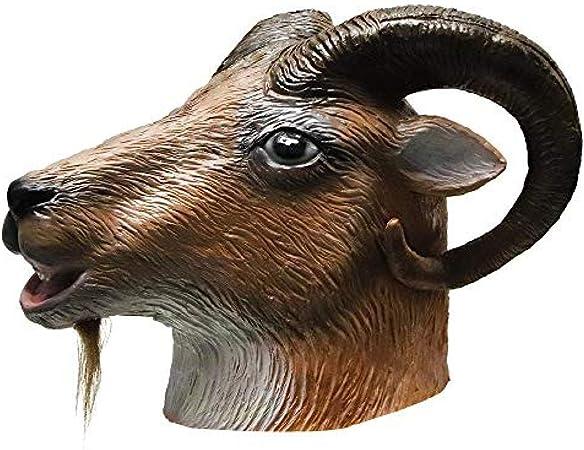 Máscara de Cabra de látex Fiesta de Disfraces de Halloween Goma ...