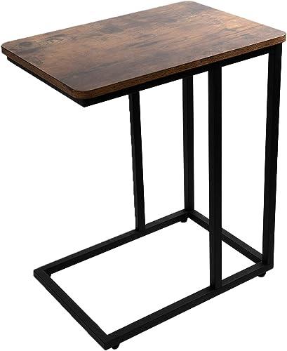 JPNTOYE Industrial Side Table C-Shape
