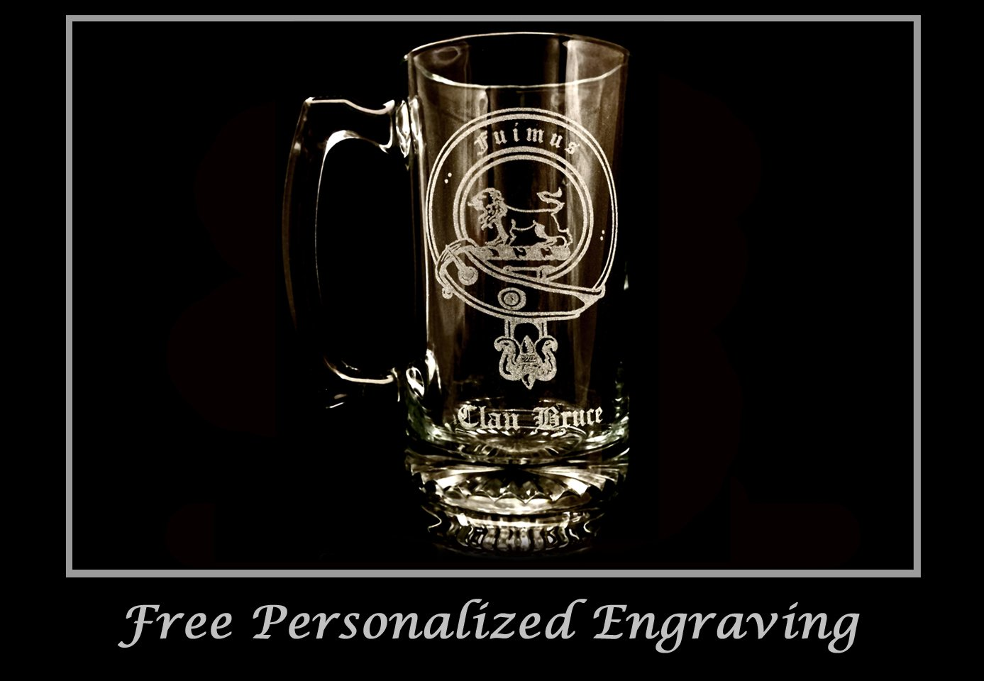 Clan Bruce Scottish Crest 27oz Stein