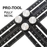 ANGLE Multi-Angle Measuring Ruler: FULL-METAL Template Tool (Black) - Perfect For Handymen, Builders, Craftsmen, Carpenters, Roofers, Tilers, DIY-ers & GREAT GIFT