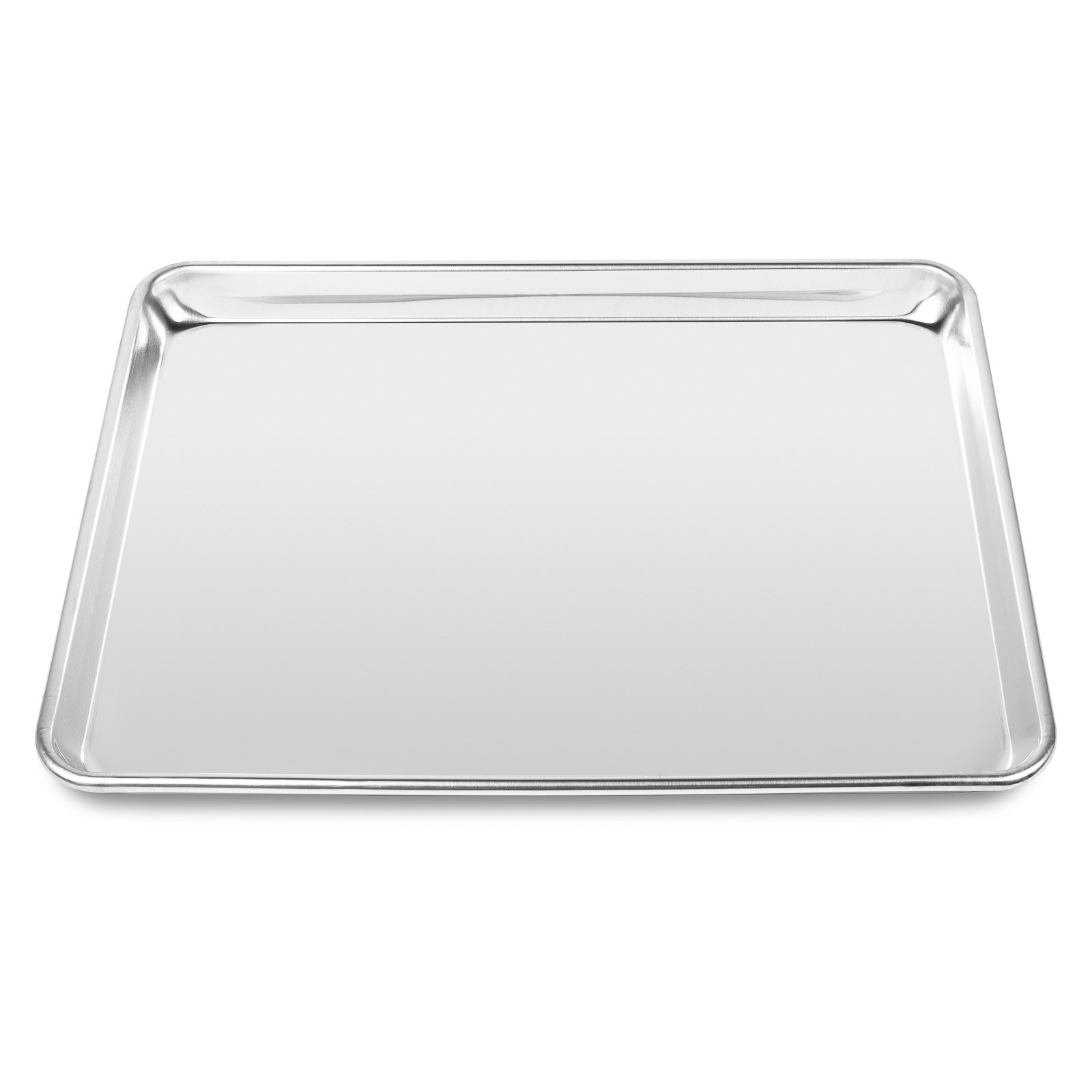 Last Confection 6 Cookie Baking Sheets 13'' x 18'' - Rimmed Aluminum Jelly Roll Trays - Half Sheet Pans by Last Confection (Image #3)