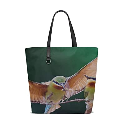 da39d2996b48 Amazon.com  Rh Studio Tote Bag Birds Couple Branch Wings Flap Purse Handbag  For Women Girls  Shoes