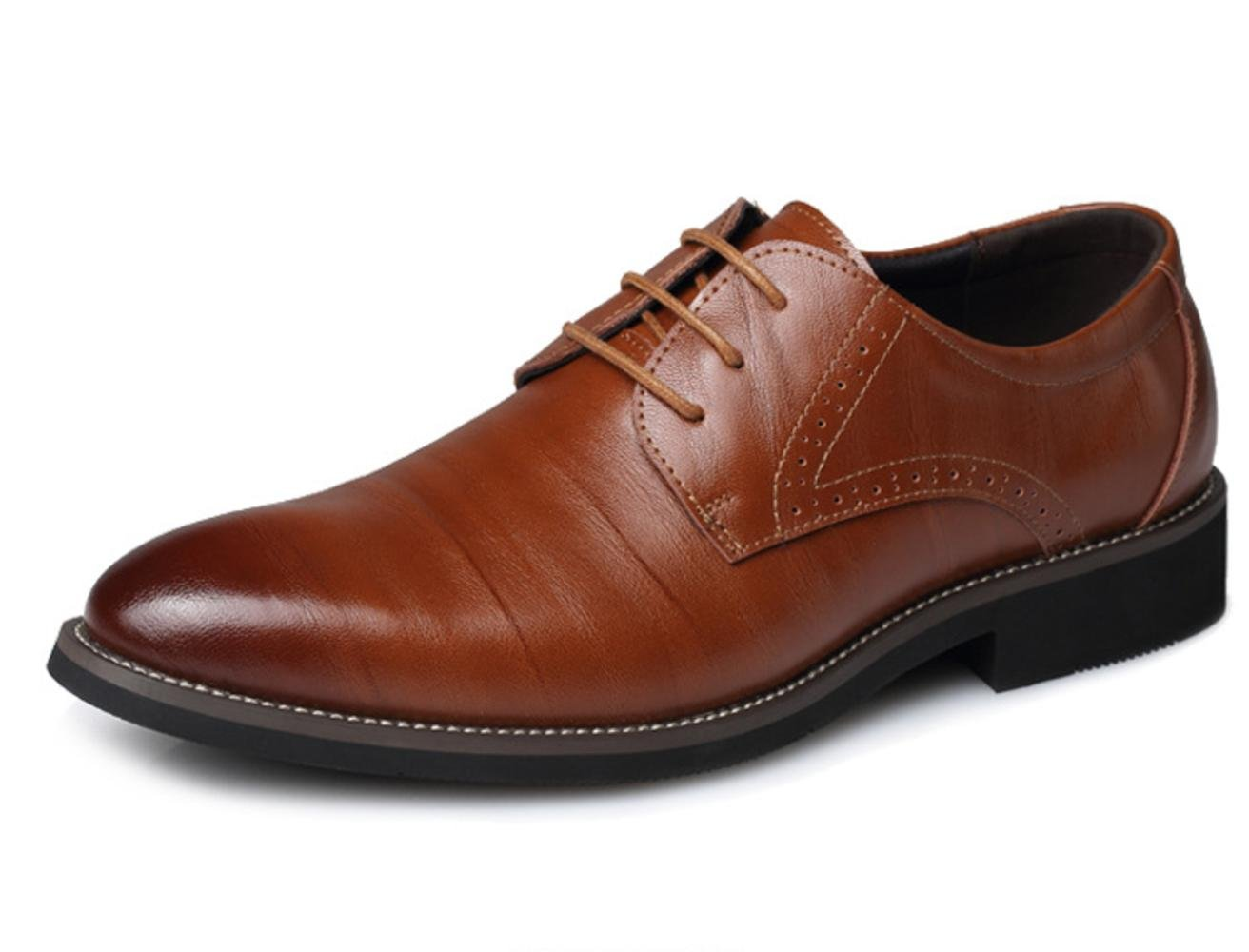 XDGG Männer Leder Schuhe Business Casual Spitz Zehe Hochzeit Schuhe Groß Größe Schuhe , Gelb , 38