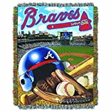 "The Northwest Company MLB Atlanta Braves Home Field Advantage Woven Tapestry Throw, 48"" x 60"