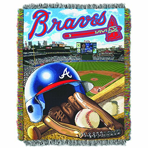 The Northwest Company MLB Atlanta Braves Home Field Advantage Woven Tapestry Throw, 48