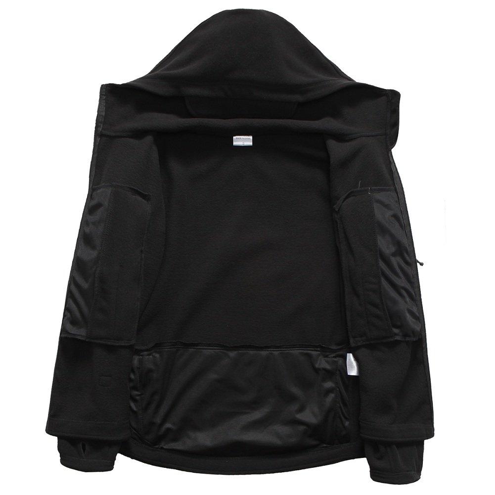 ReFire Gear Men's Warm Military Tactical Sport Fleece Hoodie Jacket ( Large, Black) by ReFire Gear (Image #4)