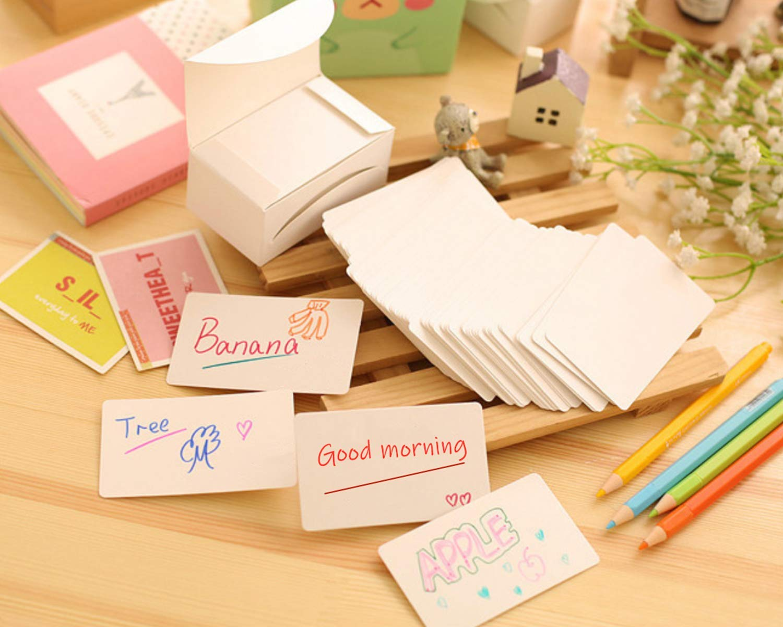 Osun 500 PCS Blank Kraft Paper Business Card Word Card Message Card DIY Tag Gift Card