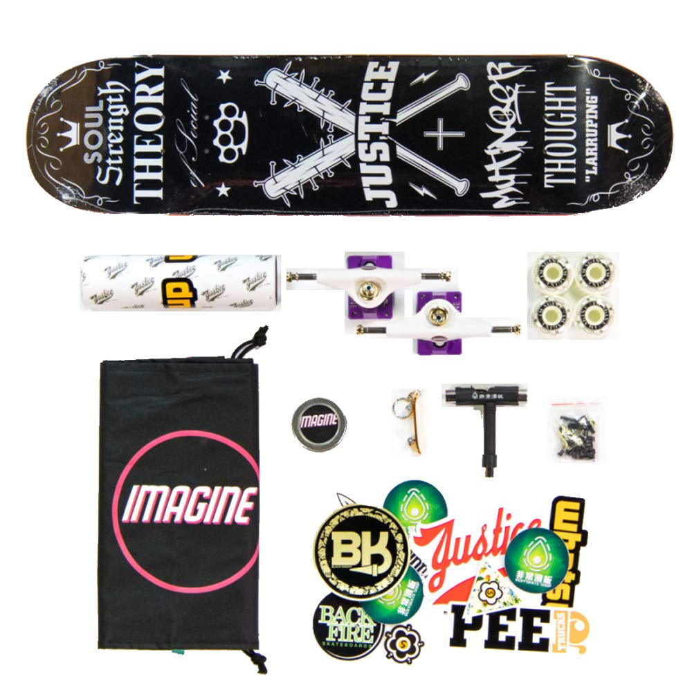 huge selection of 18147 46cb6 YSAN Skateboard Tricks Skate Board per Principianti Skateboard A Doppio  Doppio Doppio Kick Concavo,Pattern11-Configurationone ...