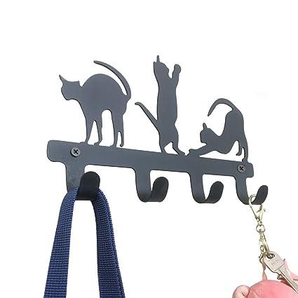 PandS - Perchero para llaves con forma de gato, ideal para ...