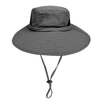 5d52a0af7 Sombrero de Sol Al Aire Libre - 50UV Protección Solar De Ancho Borde  Sombrero de Nylon - Secado Rápido ...