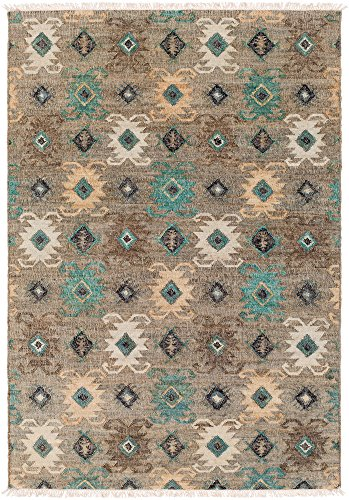 - Lemoore Updated Moroccan Farmhouse 8' x 10' Rectangle Bohemian/Global 100% Jute Teal/Black/Khaki/Sage/Dark Brown Area Rug