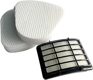Replacement Filter For Shark Navigator Lift-Away NV360 NV350, NV351, NV352, NV355, NV356E, NV357, NV360, NV370, NV391, UV440, UV490, UV540,Xff350,1 Hepa and 2 Foam