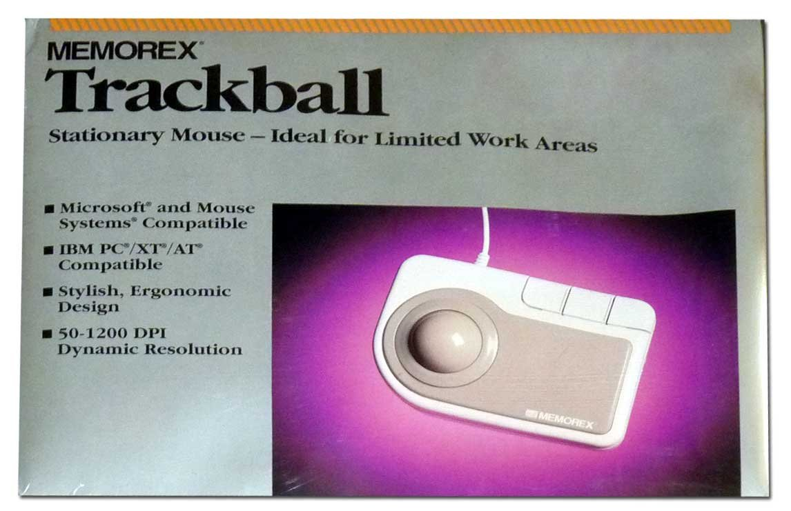 Memorex Trackball Stationary Mouse, Ideal for Limited Work Areas, Dated 1994