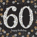 Amscan COMINHKPR98234 Sparkling Paper Napkins 1 Pack black, gold, silver