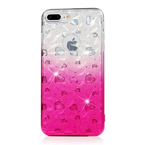Carcasa iPhone 7 Plus/iPhone 8 Plus, Funda Silicona TPU ...