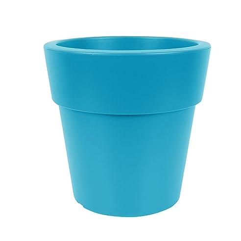 777) Kunststoff Pflanzkübel Petrol-Blau Blumenkübel Pflanzenkübel ...