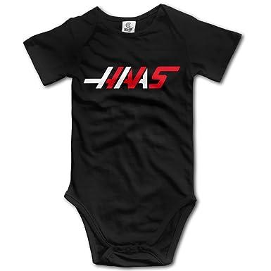 Amazon Com Haas F1 Team Logo Baby Boy S Girl S Short Sleeve