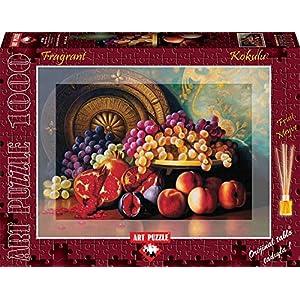 Heidi Heidi4192 Figs Pomegranates In Ottone E Piastra Fragrante Art Puzzle Pezzi