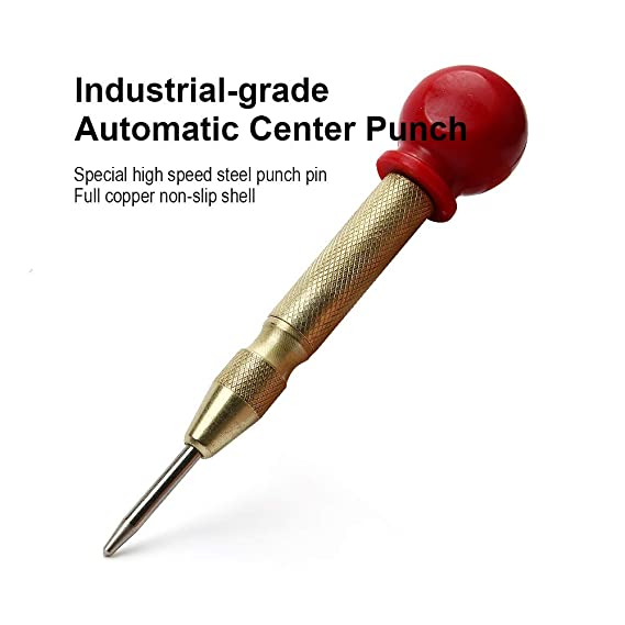 5 inch Automatic Center Pin Punch Spring Loaded Marking Starting Holes Tool TK' DIY Tools & Workshop Equipment