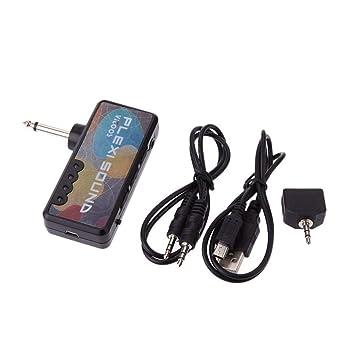 Amplificador de guitarra eléctrica Amplificador estéreo con enchufe divisor Carga USB Control de volumen de volumen Control de efectos de sonido de la ...