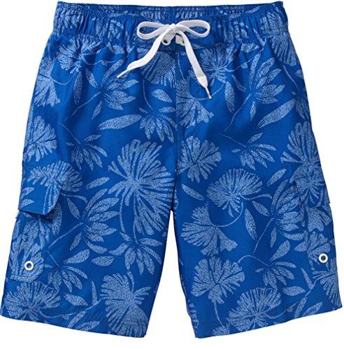 Op Mens Swim Short Trunks   Tugger Above Knee 20 5  Outseam   Hibiscus   Blue   Small 28 30