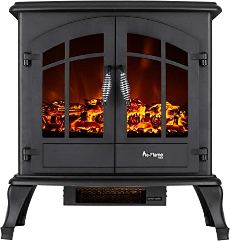 Jasper Free Standing Electric Fireplace Stove 25 Inch Black Portable Electric Vintage Fireplace With Realistic Fire And Logs Adjustable 1500w 400 Square Feet Space Heater Fan Amazon Ca Home Kitchen