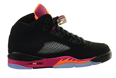 sneakers for cheap 8a064 c83a5 Jordan Girls Air 5 Retro (GS) Big Kids Basketball Shoes Black Bright Citrus