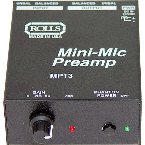 rolls Mini Single Ch Mic Preamp (MP13)