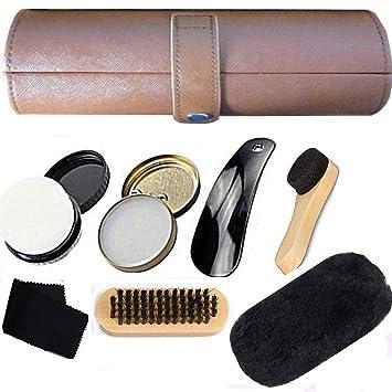 dab94ca064 Amazon.co.jp: 靴磨きセット 革靴 お手入れ 靴磨き コンパクトで便携帯 ...
