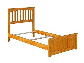 Amazing Atlantic Furniture Mission Traditional Bed With Matching Foot Board Twin Xl Caramel Inzonedesignstudio Interior Chair Design Inzonedesignstudiocom