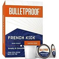 BulletProof French Kick Coffee Pods, Dark Roast, 10 Count
