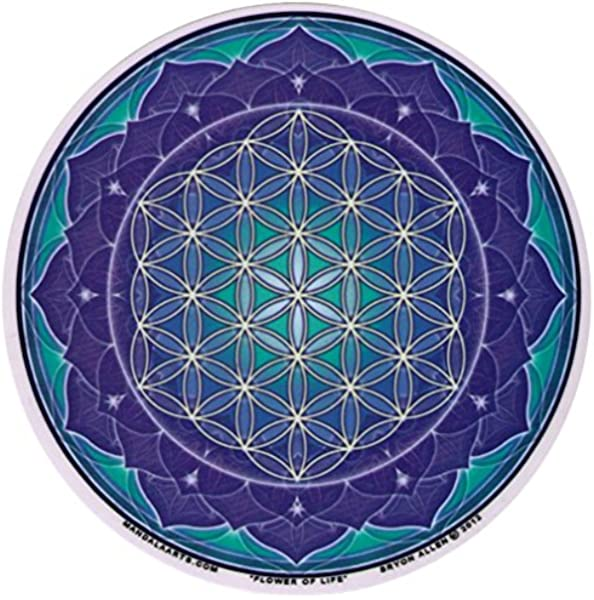 Amazon Com Mandala Arts Flower Of Life Window Sticker Decal Circular 4 5 Translucent Automotive